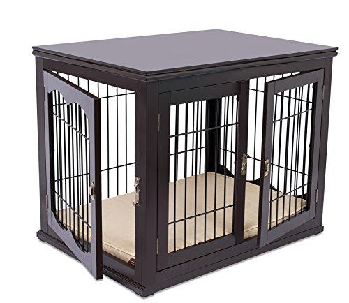 Internet\'s Best Decorative Dog Kennel with Pet Bed | Double Door ...