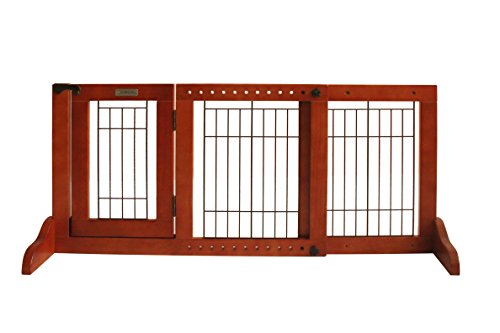Simply Plus Wooden Pet Gate, Freestanding Pet Dog Gate, For Indoor ...