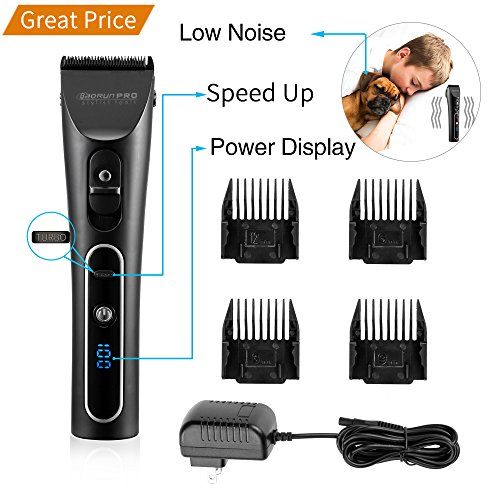 Electric Dog Clipper Dog Grooming Clippers Cordless Quiet
